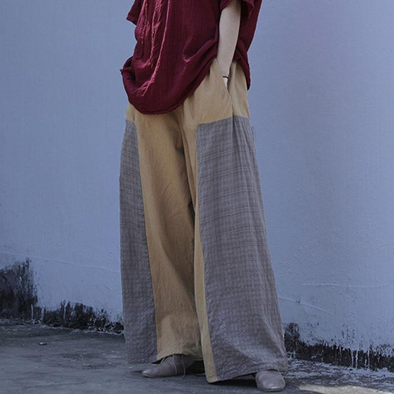 Loose Patchwork Cotton Linen Pants | Lotus