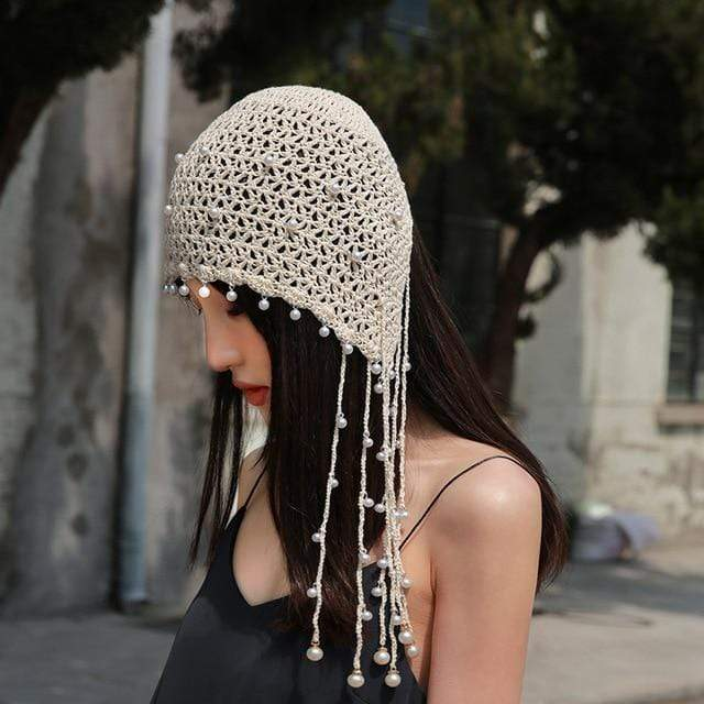 Buddhatrends Hats Beanie Fashion Pearl Hats