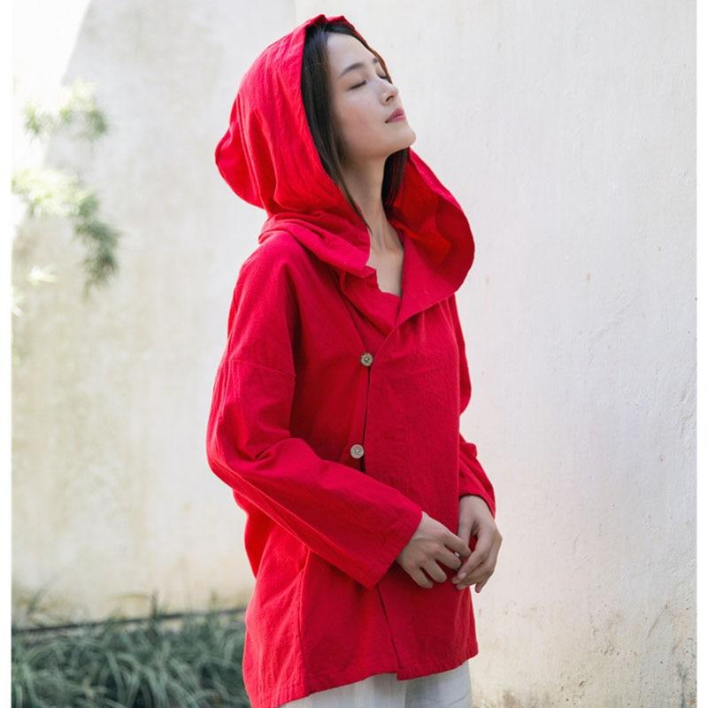 Vibrant Hooded Linen Jacket