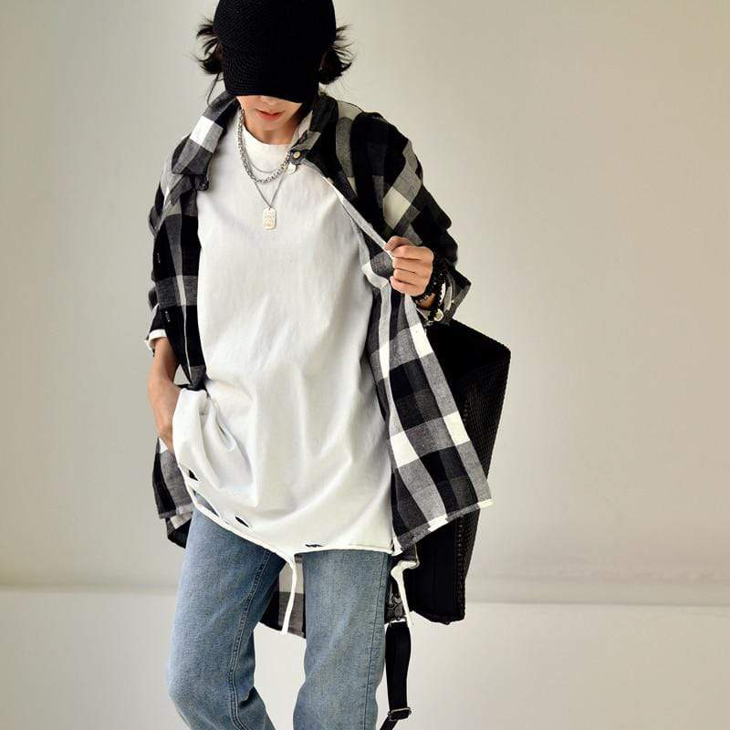 Buddhatrends Oberbekleidung Oversized Ripped Pullover