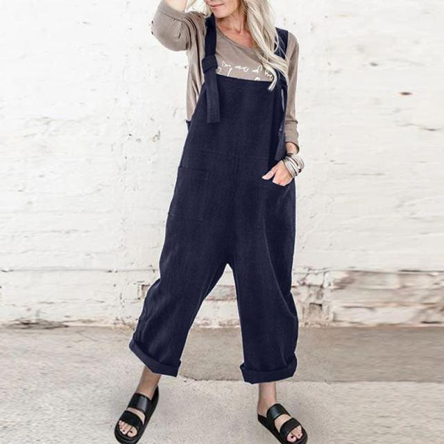 Buddhatrends Overall Navy / S Carmen Plus Size Overalls