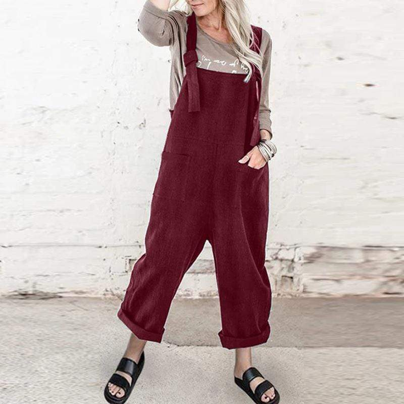 Buddhatrends Overall Rot / S Carmen Plus Size Overall