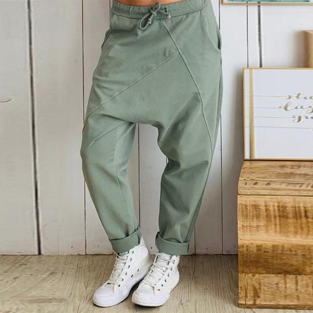 Buddhatrends Pants Army Green / S Street View Oversized harem Pants