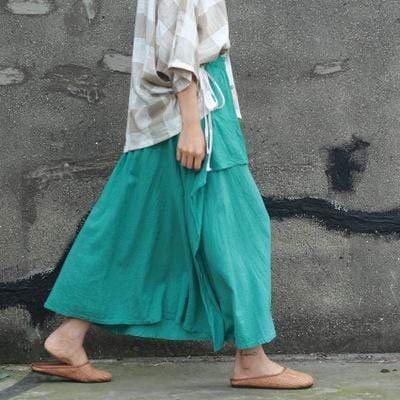 Double Layer Pleated Skirt | Lotus