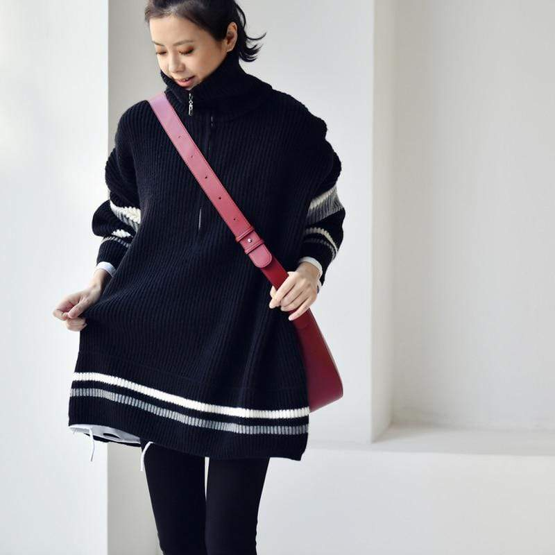 Buddhatrends Pullover Angelica Collar Matching Color Sweater