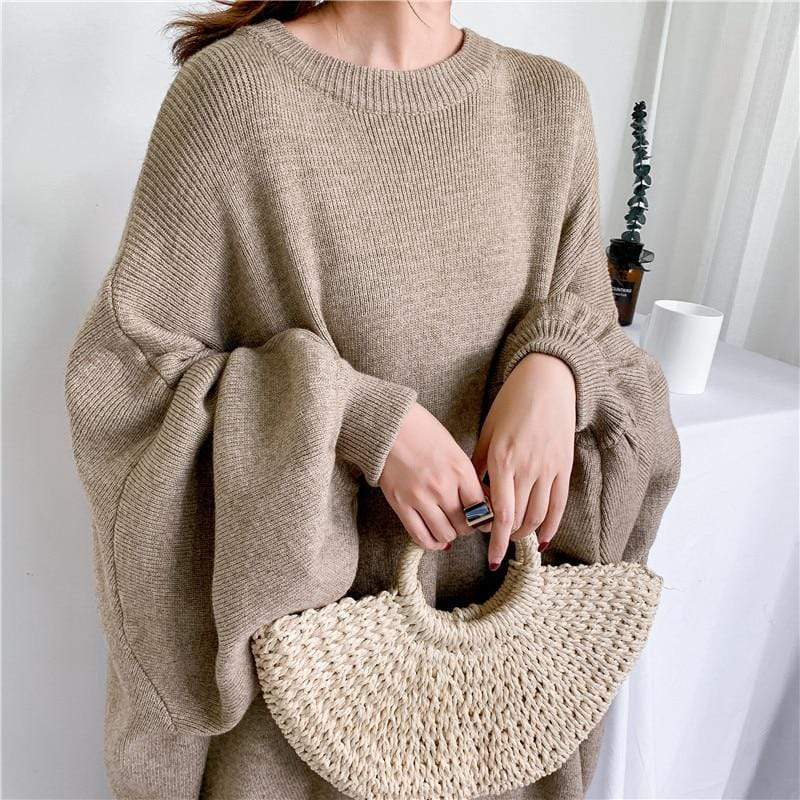 Buddhatrends Pullover Apricot / One Size Sabina Bishop Sleeve Sweater