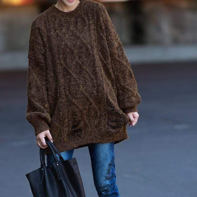 Buddhatrends Pullover One Size / Ga Farbe Andrea Loose Fit Pullover