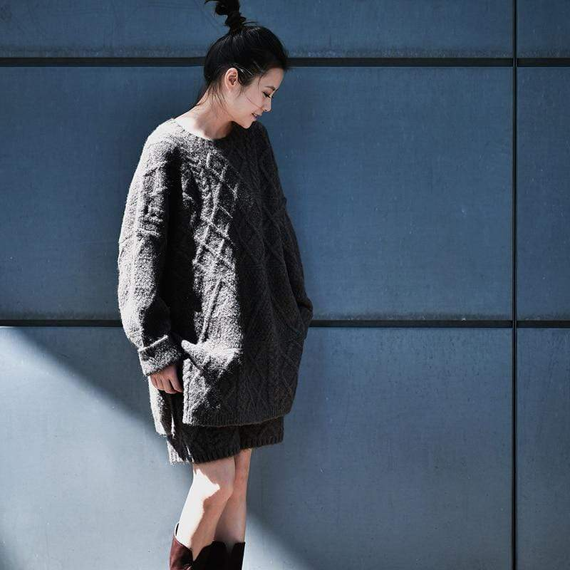 Buddhatrends Pullover Oversized Wollpullover Outfit