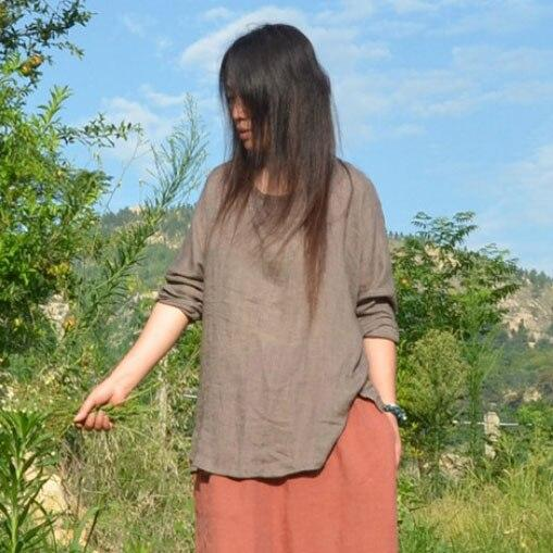 Batwing Sleeve Cotton Linen Shirt | Zen