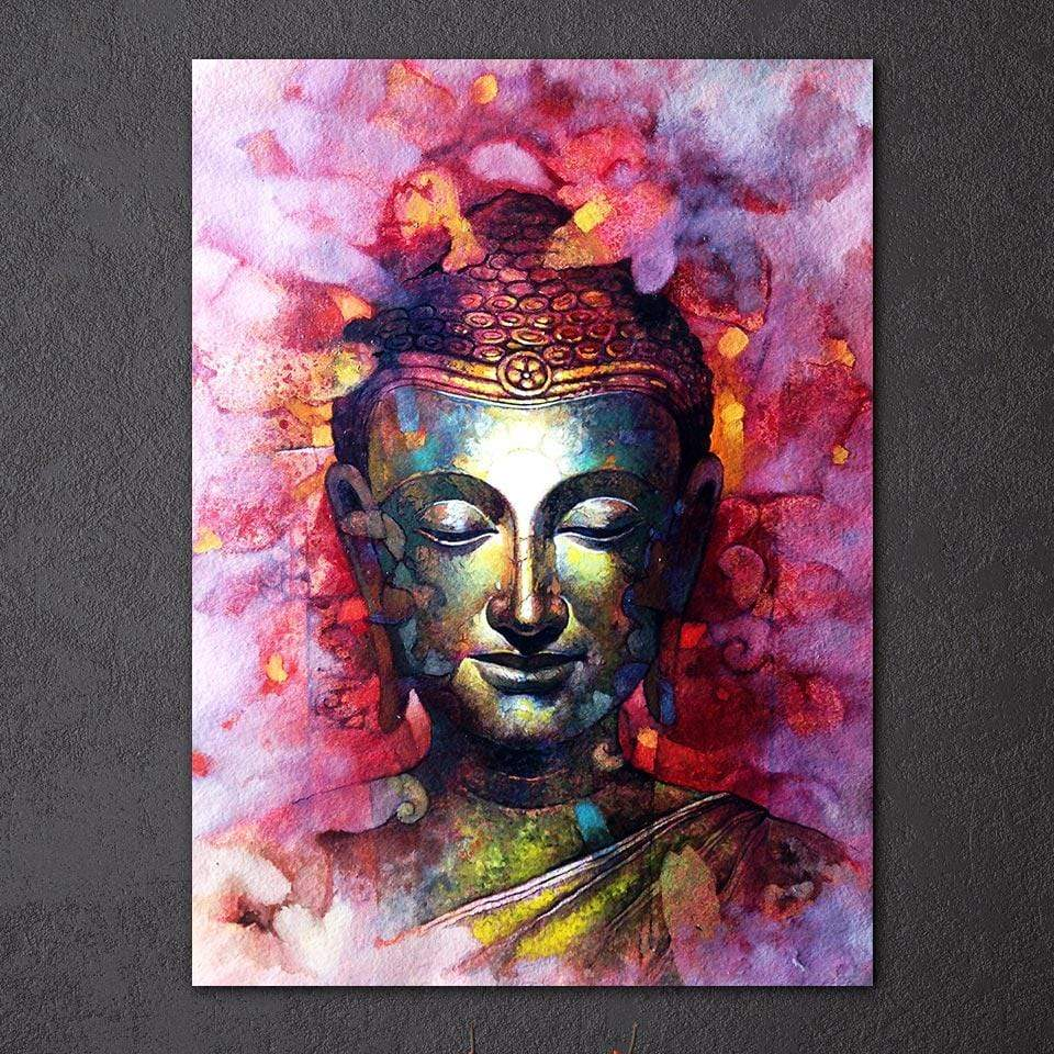 Buddhatrends Watercolor Abstract Buddha Canvas