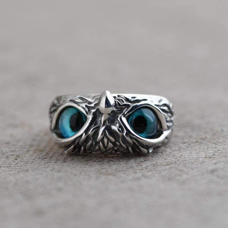 Buddhatrends Wise Owl 925 Sterling Silber Ring