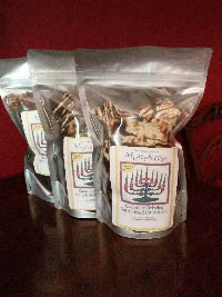 Mrs. Moskowitz's Hanukkah chocolate drizzled munchies (three 6 oz. minimum order)