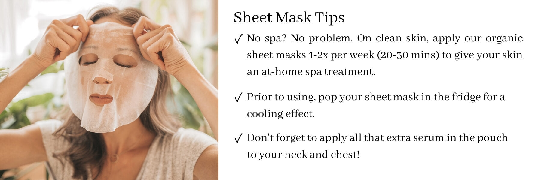 ORGAID Sheet Mask Tips