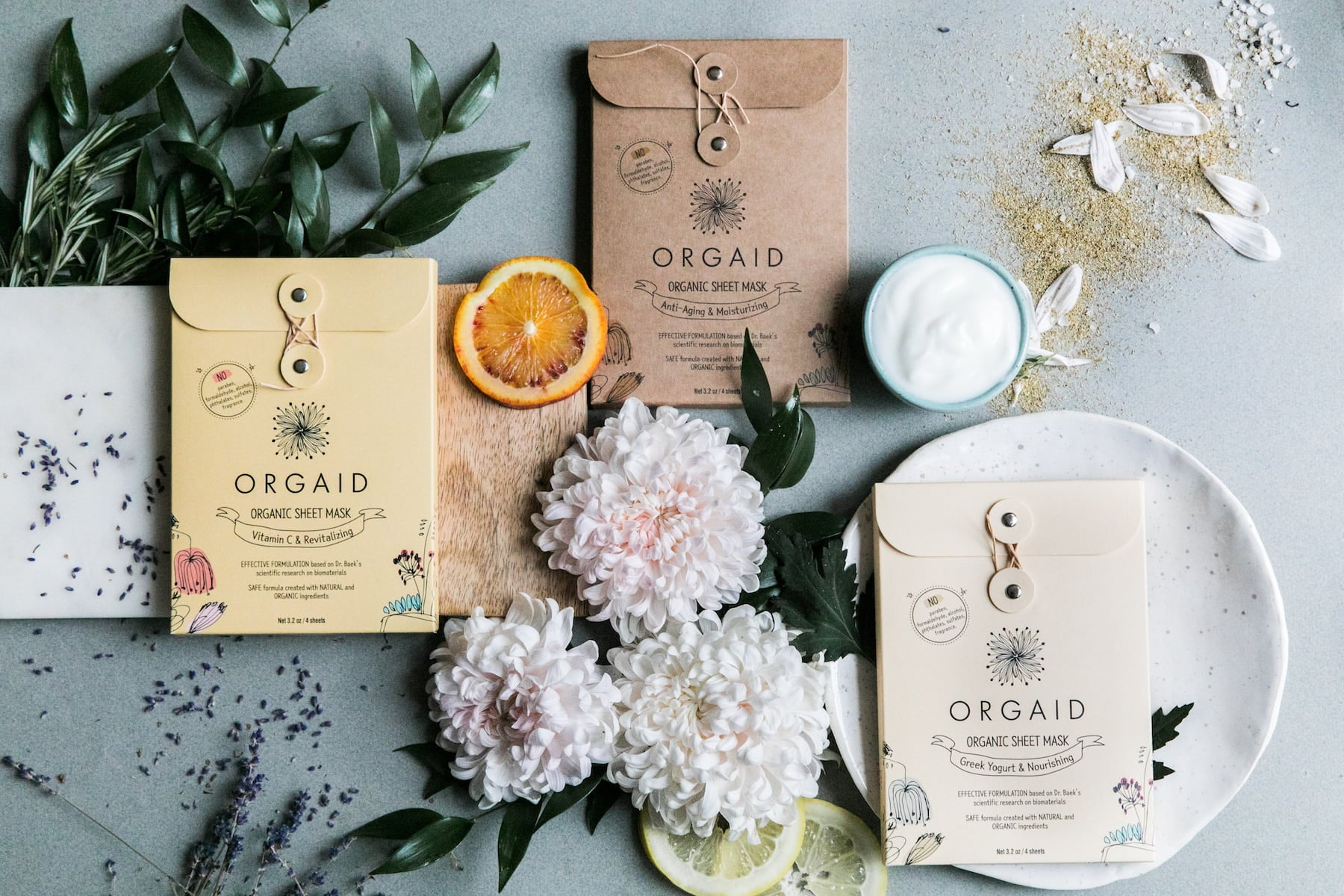 ORGAID Organic Sheet Mask Main Banner