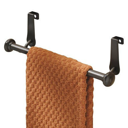 Over-The-Cabinet Towel Bar Bronze
