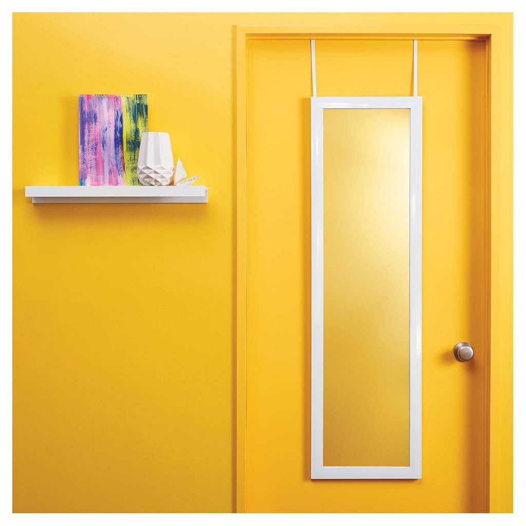 Room Essentials Over-the-Door Mirror White