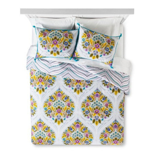 Indie Flower Duvet Set - Twin Extra Long Size