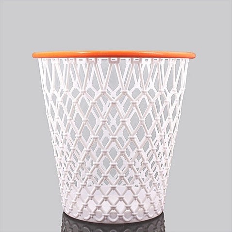 "Spalding Basketball Net ""Crunch Time"" NBA Design Wastebasket White One Size"