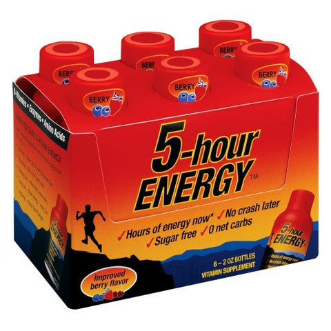 5-Hour Energy, Berry - 6pk - 2 fl oz/each