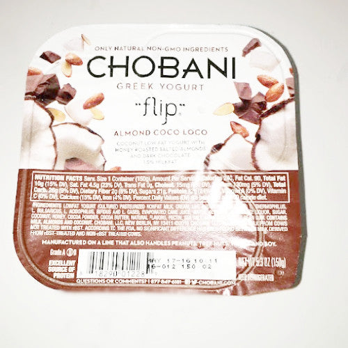 Chobani Flip Almond Choco Loco Low Fat-Greek Yogurt - 5.3 oz