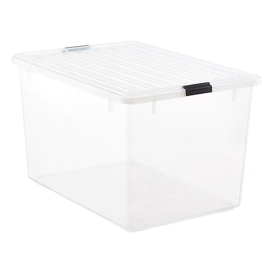33 gal. Clear Tote with Locking Lid