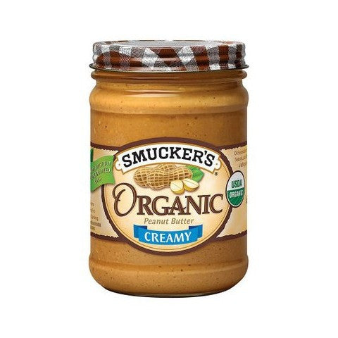 Smuckers Organic Natural Creamy Peanut Butter - 16 oz