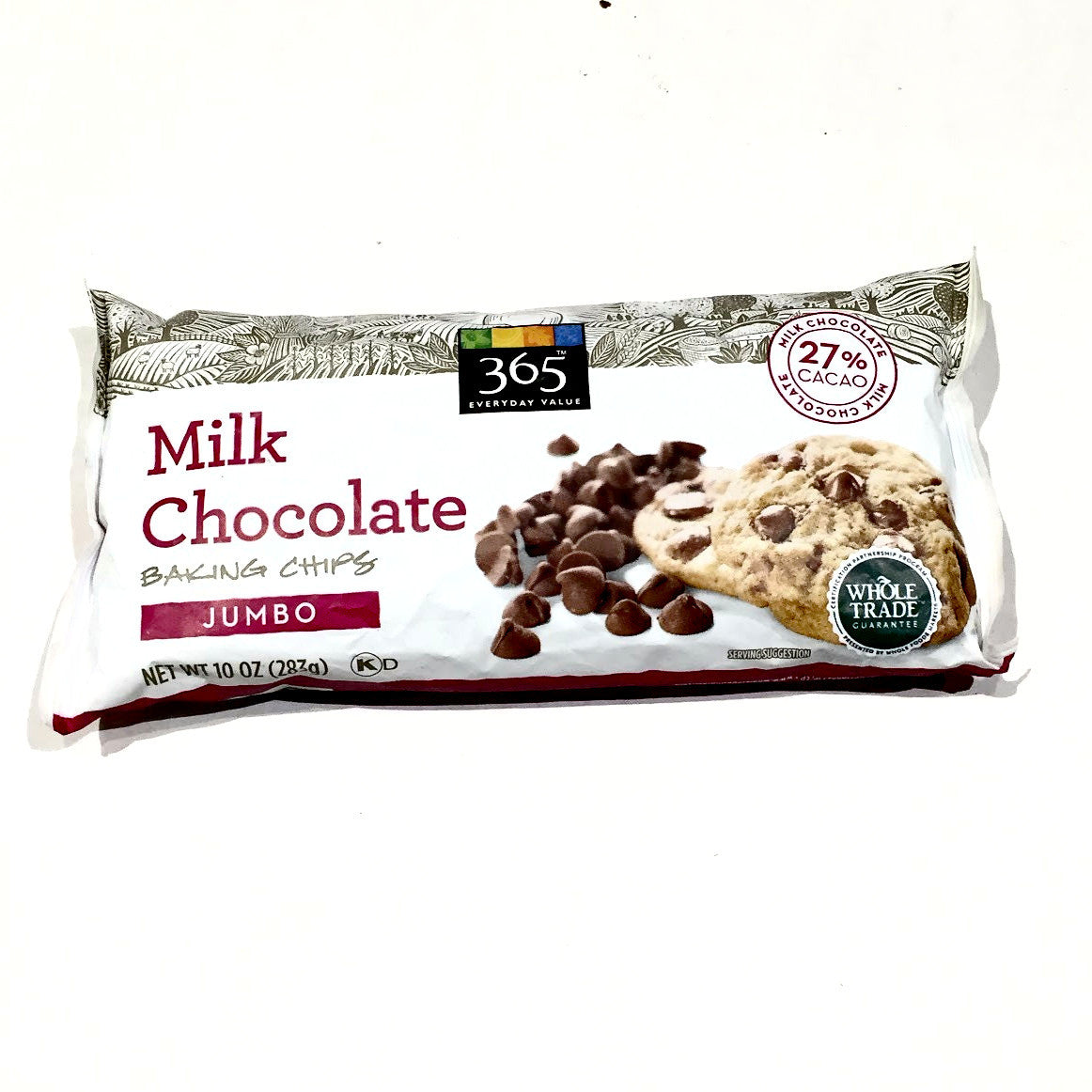 365 Everyday Value Milk Chocolate Baking Chips (Jumbo) - 10 oz