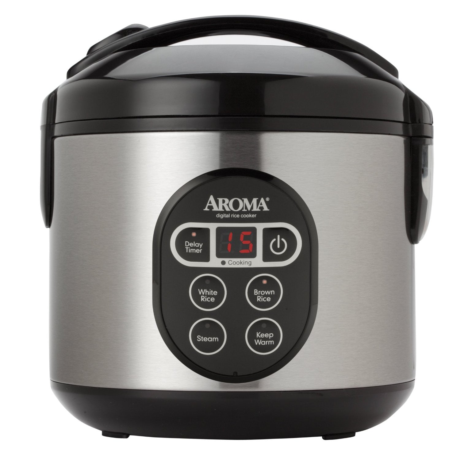 Aroma Housewares Digital Cool-Touch Rice Cooker and Food Steamer with Stainless Steel Exterior