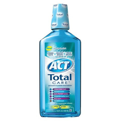 ACT Total Care Icy Clean Mint Mouthwash - 1L