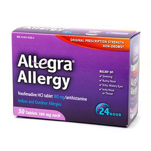 Allegra 24-Hour Allergy Tablet - 180mg - 30ct