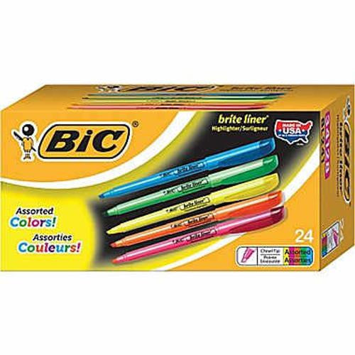 BIC Brite Liner Highlighters - Assorted Colors - 24ct