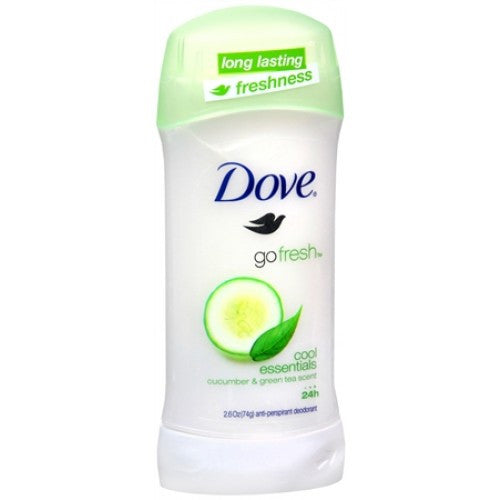 Dove Go Fresh Cool Essentials Antiperspirant & Deodorant - Cucumber & Green Tea Scent - 2.6 oz