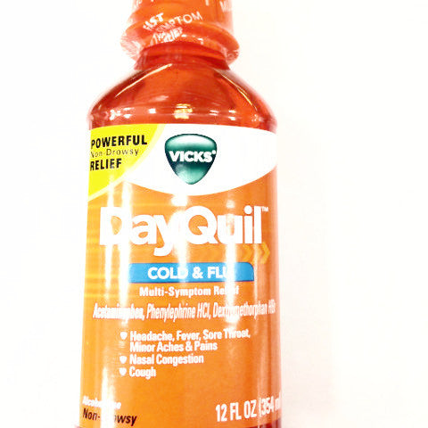 Vicks DayQuil Cold & Flu Multi-Symptom Relief Liquid - 12 fl oz