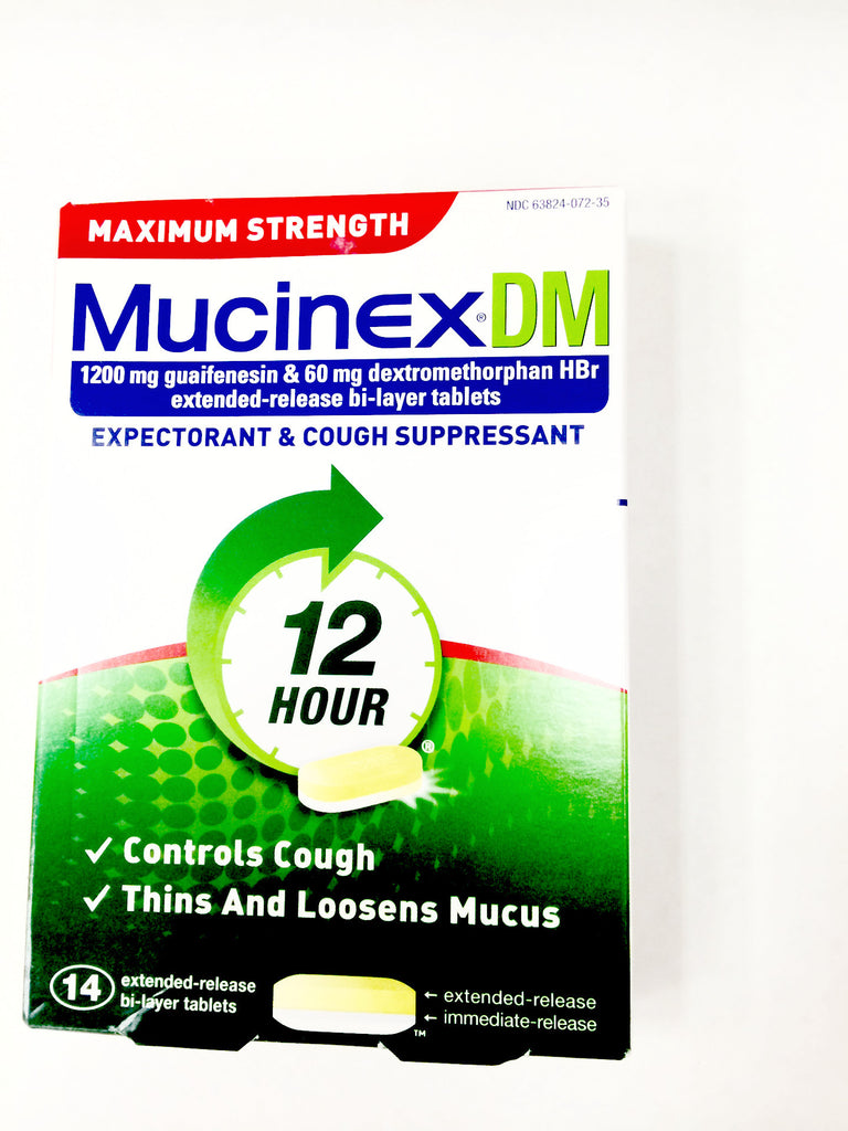 Mucinex DM Maximum Strength Expectorant & Cough Suppressant, Extended Release Bi-Layer Tablets - 28ct