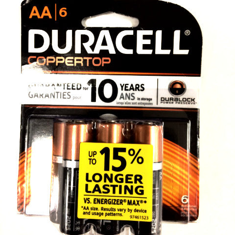 Duracell AA battery - 6pk