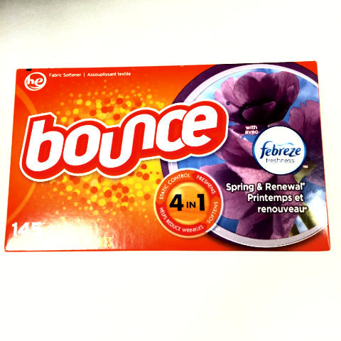 Bounce with Febreze Spring & Renewal Dryer Sheets - 145 ct