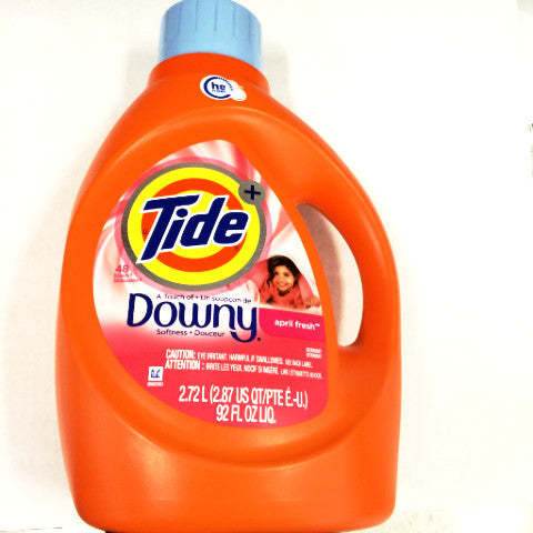 Tide Plus A Touch of Downy Clean Breeze Liquid Laundry Detergent - 92 oz