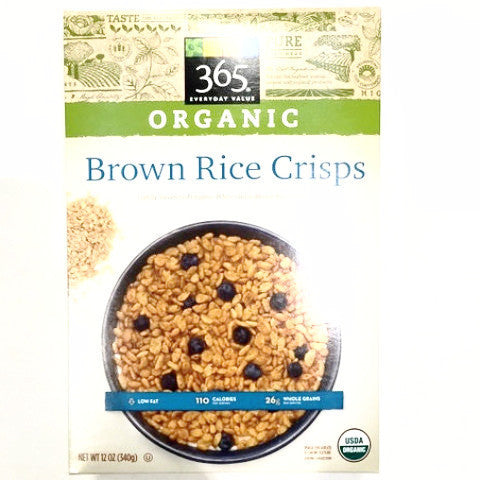 365 Organic Brown Rice Crisps - 12oz