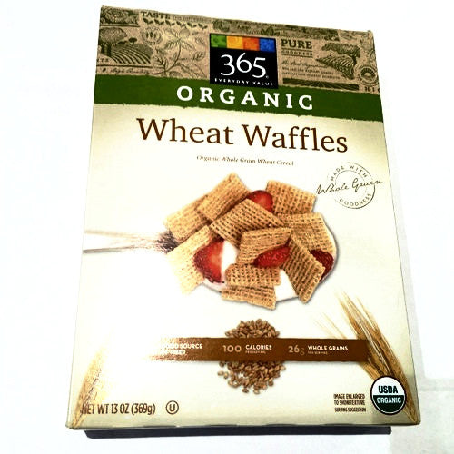 365 Organic Wheat Waffles - 13oz