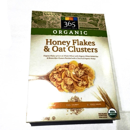 365 Organic Honey Flakes & Oat Clusters - 12oz
