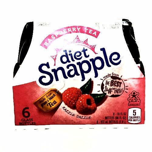 Diet Snapple Raspberry Tea- 6 pack, 16 fl oz each