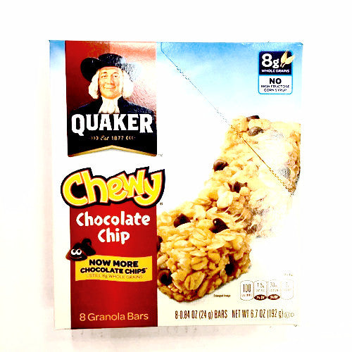 Quaker Chewy Chocolate Chip -8ct