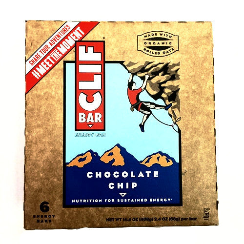 Clif Bar Chocolate Chip - 6 Energy Bars