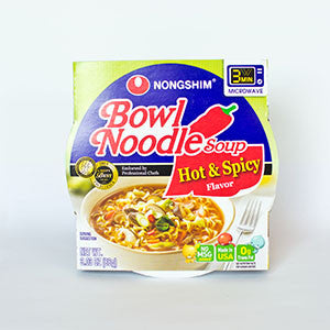 Nongshim Hot & Spicy Microwavable Noodle Bowl - 3.03oz