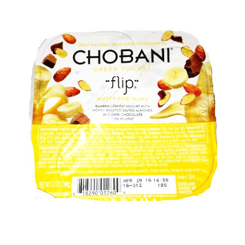 "Chobani ""flip"" Nutty For 'Nana - 5.3oz"