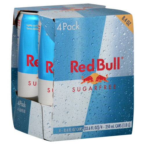 Red Bull - Sugar-Free - 4pk - 8.4 fl oz cans