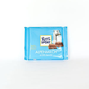 Ritter Sport Alpenmilch Milk Chocolate Bar