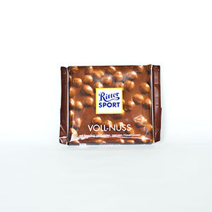 Ritter Sport Voll-Nuss Chocolate Bar with Whole Hazelnuts