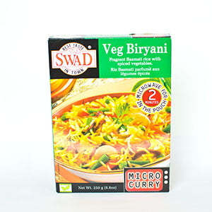 Swad Veg Biryani Microwavable Curry - 21oz