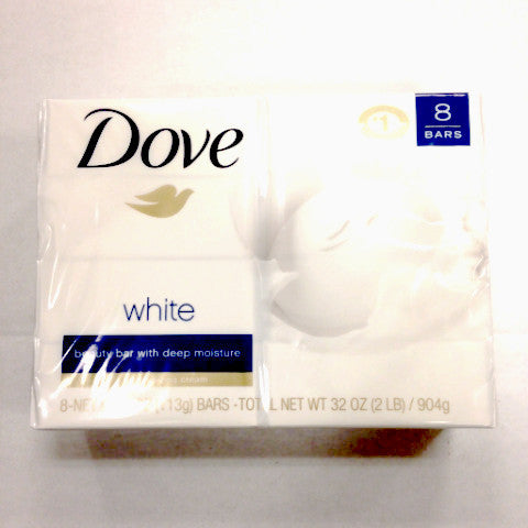 Dove White Soap Bars - 8ct